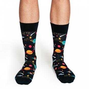 Мъжки памучни чорапи с мотив галактика