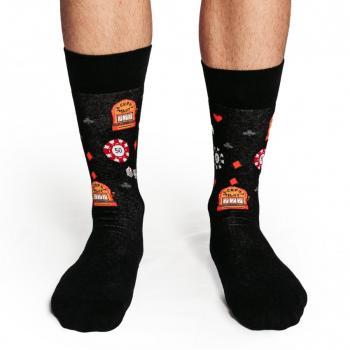 Мъжки памучни чорапи с мотив казино