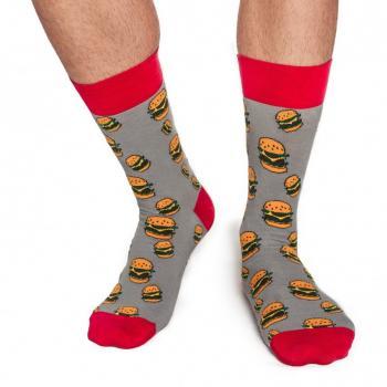 Мъжки памучни чорапи с мотив на бургери