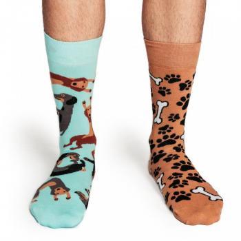 Мъжки памучни чорапи с мотив на лапички