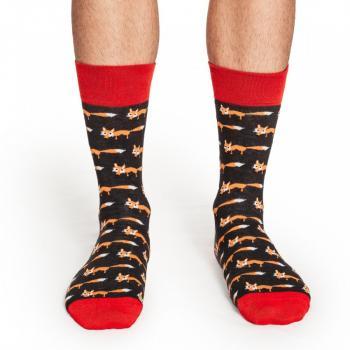 Мъжки памучни чорапи с мотив на лисици