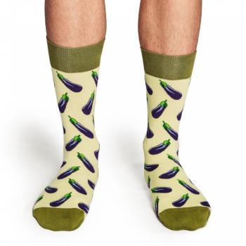 Мъжки памучни чорапи с мотив на патладжани