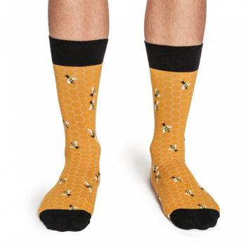 Мъжки памучни чорапи с мотив пчели