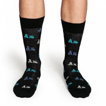 Мъжки памучни чорапи с мотив скутер