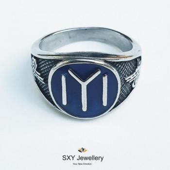 Мъжки пръстен от стомана SR26963