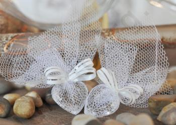 Подарък за гости - Кристално сърце в тюл модел GG034
