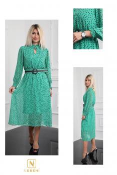 Пролетна рокля на точки