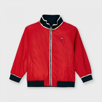 Пролетно двулицево яке за момче в червено
