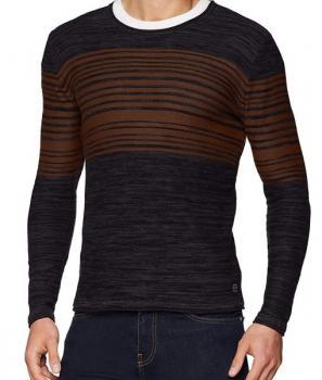 Класически мъжки пуловер с обло деколте Blend