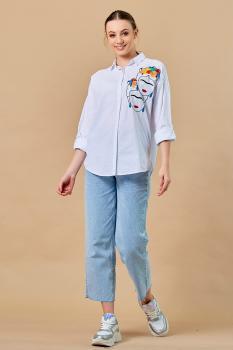 Риза с пъстра бродерия