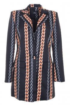 Дамско сако с тренди щампа