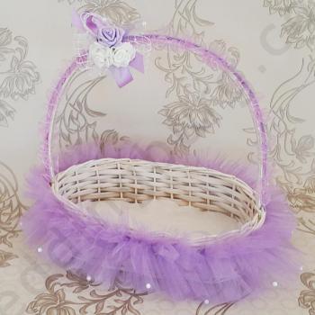 Свабена кошничка в лилаво, модел KH028