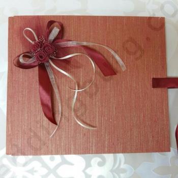 Сватбена книга в червено, модел PSK06