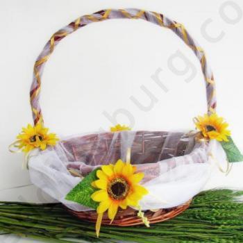 Сватбена кошница със слънчогледи KH022