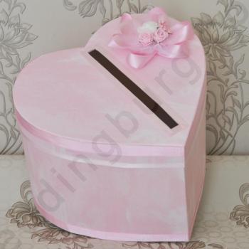 Сватбена кутия в розово, модел КК027