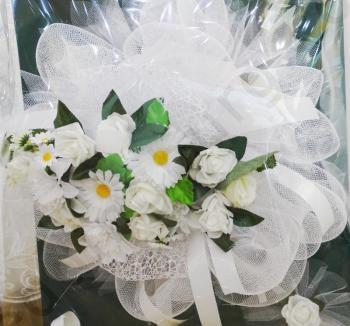 Сватбена украса за кола с маргаритки, модел CD036