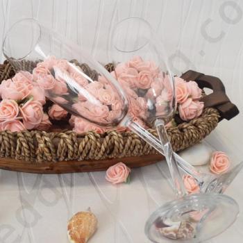Сватбени чаши за шампанско, модел GSH03