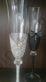 Сватбени чаши - кристал, модел VKSCH05