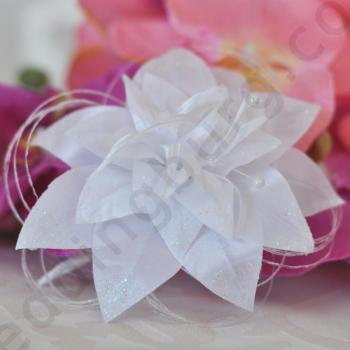 Сватбено цвете за косата на булката в бяло, D018