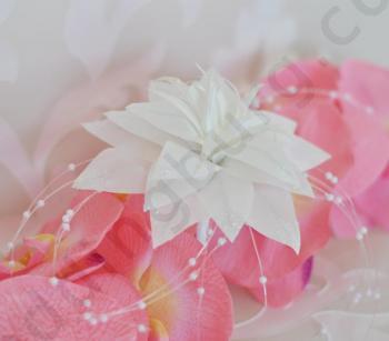 Сватбено цвете за косата на булката, D017