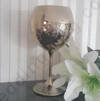 Сватбен бокал в златисто, модел SB069