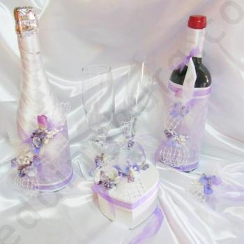 Сватбен комплект в бледо лилав цвят KA020