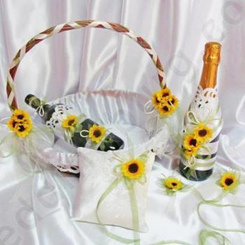 Сватбен комплект с маргаритки KA019