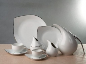 Сервиз за чай 12 части drop platin & gold
