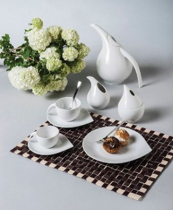 Сервиз за чай 12 части drop white