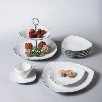Сервиз за чай 12 части tric white