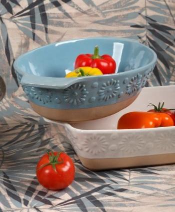 Съдове за печене във фурна &8211 материал stoneware &8211 серия: flower &8211 cream