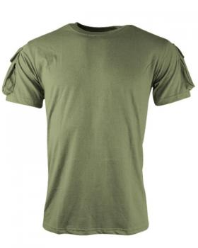 Тактическа фланелка къс ръкав - Маслинено-зелен, Комбат - Великобритания