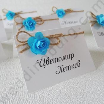 Тейбъл картички със сини рози, модел TK05