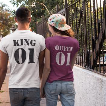 Тениски за двойки - KING 01 QUEEN 01 Pr.2 Back