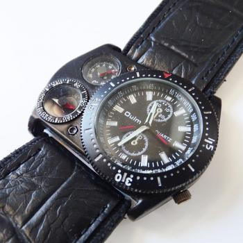 Часовник с каишка от естествена кожа Oulm