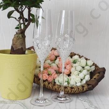 Чаши за граждански, сватбен ритуал, модел SCH032