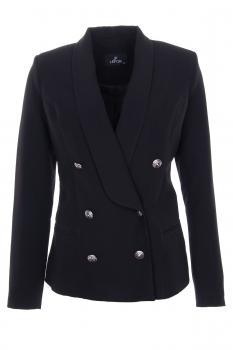 Черно двуредно сако