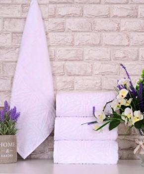 Четири броя средни, хавлиени кърпи размер 50/100 - бели - 017