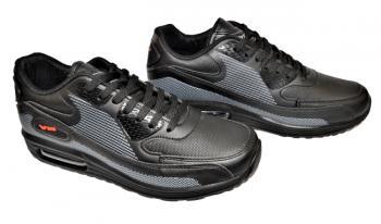 Юношески маратонки в черно и сиво 1