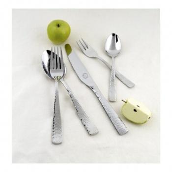 Hammered &8211 комплект прибори за хранене &8211 72 части неръждаема стомана 18/10, 3мм дебелина-vany design
