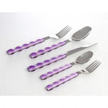 Nuovo &8211 комплект прибори за хранене &8211 30 части &8211 лилаво &8211 vany design