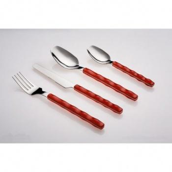 Nuovo &8211 комплект прибори за хранене &8211 30 части &8211 червени &8211 vany design