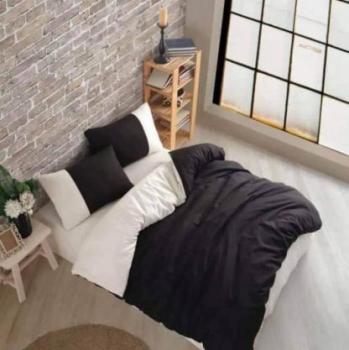 Еcru and black спален комплект за спалня с два плика Simple collection