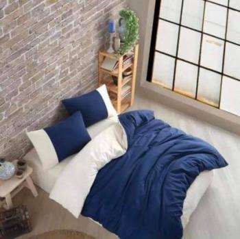 Еcru and blue спален комплект за спалня с два плика Simple collection