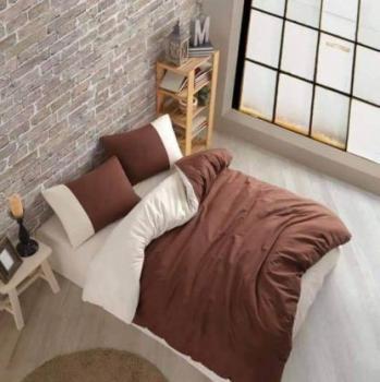 Еcru  and chocolate  спален комплект за спалня с два плика Simple collection