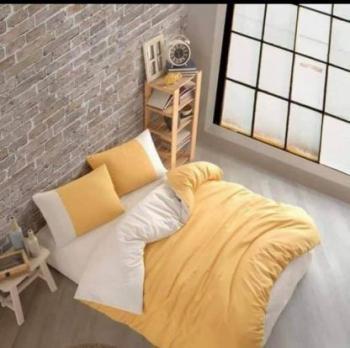 Ecru and yellow спален комплект за спалня с два плика Simple collection